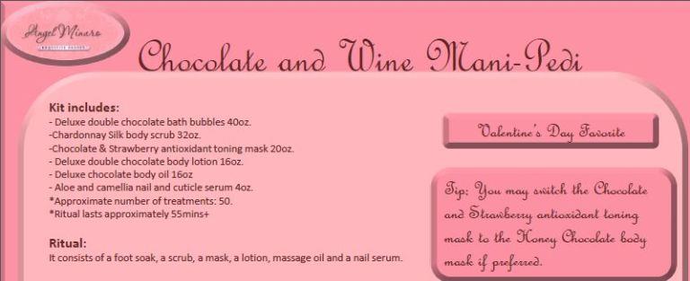 chocolate and wine manipedi