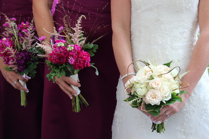 Gorgeous flowers for the bride and her girls