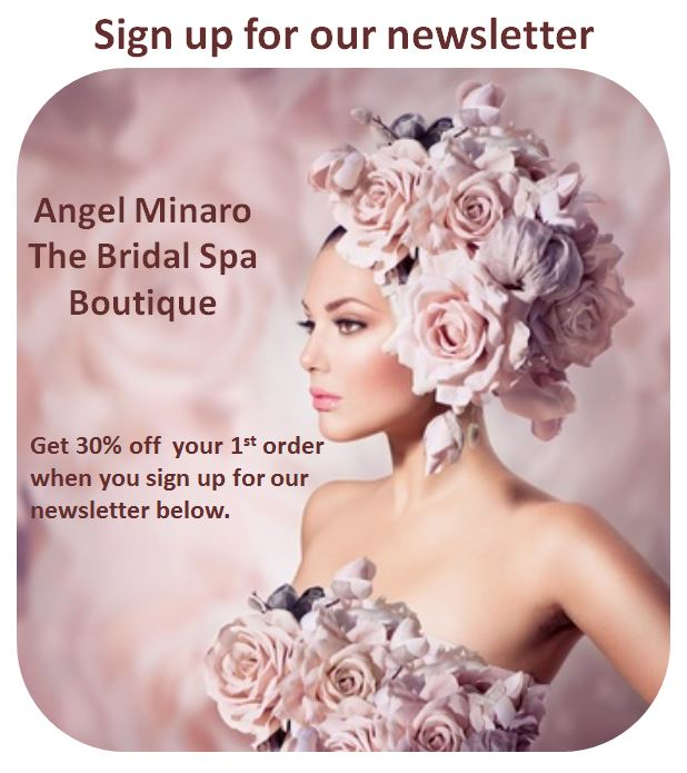 Angel minaro bridal spa boutique newsletter sign up 30% off