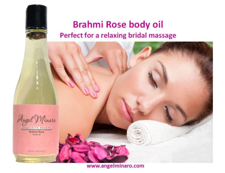 angel minaro bridal shelf talker_brahmi rose body oil