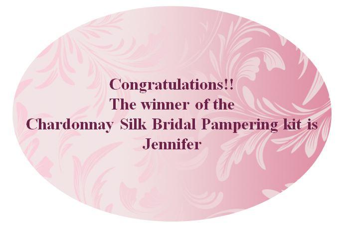 Chardonnay pampering kit giveaway winner