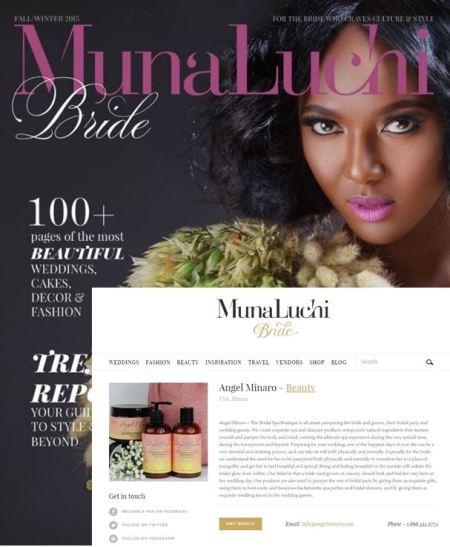 Munaluchi bride Fall magazine feature 2015