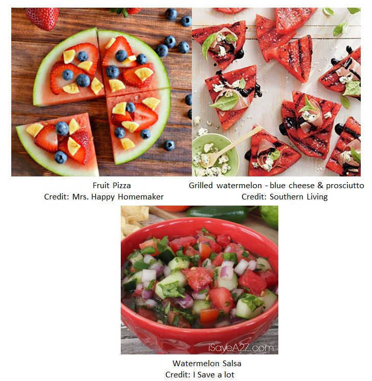 Watermelon Food ideas