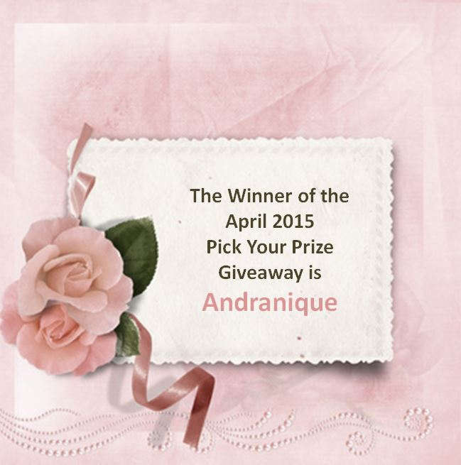April 2015 Pick your prize giveaway