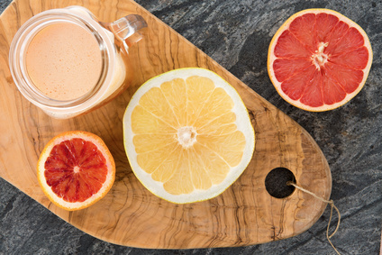 Freshly prepared grapefruit juice