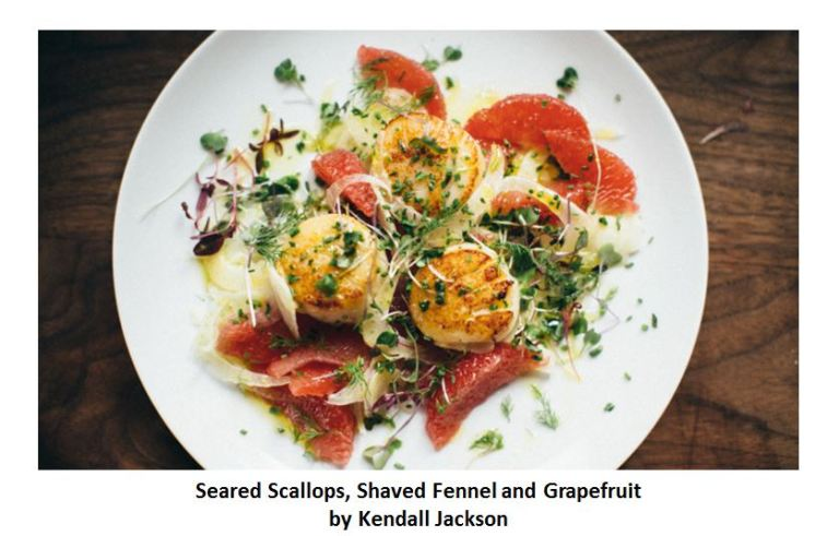 Pink grapefruit cuisine