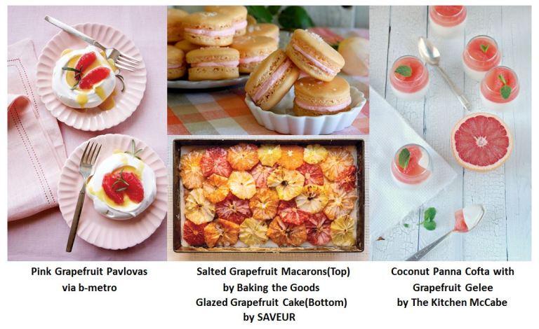 Pink grapefruit dessert table