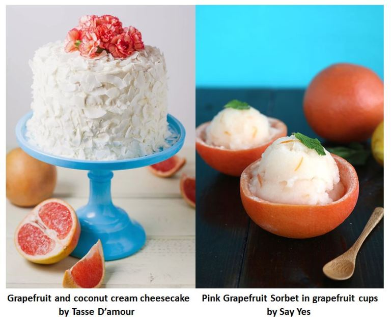 Pink grapefruit dessert table1